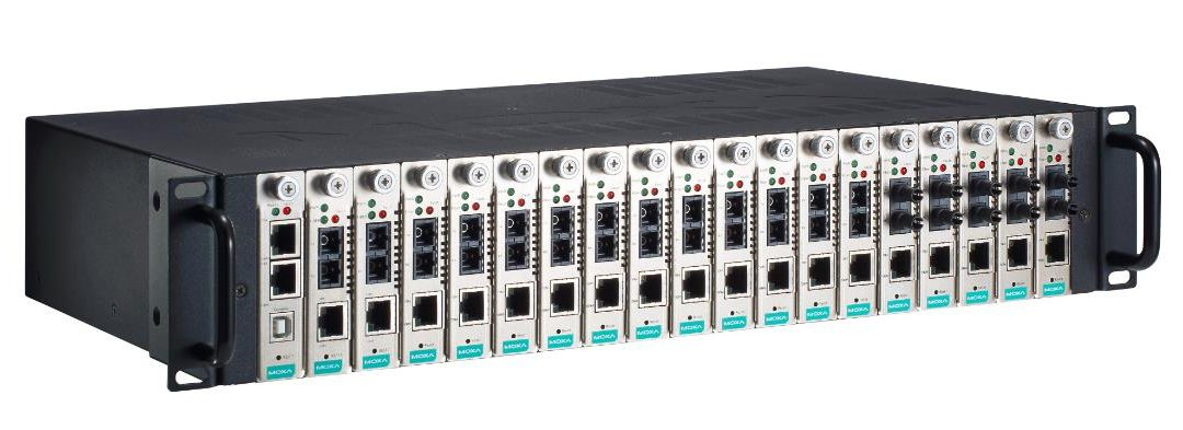 Moxa Launches 18-Slot Rackmount Chassis Media Converter for High Port-Density Applications