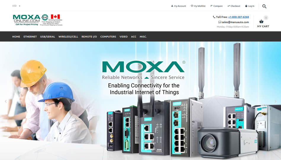 Moxaonline.com Fast, Easy, 24/7 Online Ordering of Moxa Products