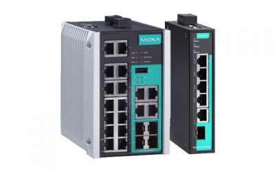 Moxa's EDS-518E and EDS-G205-1GTXSFP DIN-Rail Switches Receive Marine Certifications