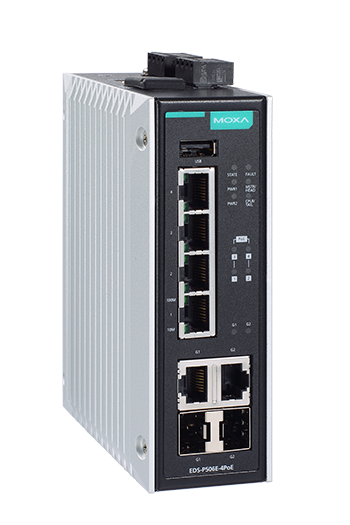 Moxa Releases 60 W PoE Switches to Power Heavy-duty IP Cameras in Harsh Environments